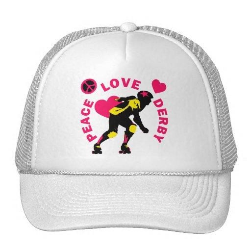 Peace Love Derby Hat