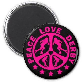 Peace Love Derby Magnet