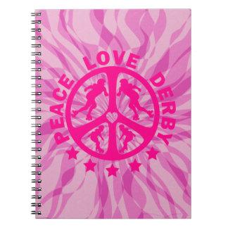 Peace Love Derby Notebook