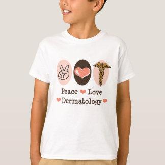 Peace Love Dermatology Dermatologist Kid T shirt