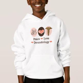 Peace Love Dermatology Kids Hooded Sweatshirt