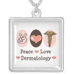 Peace Love Dermatology Necklace