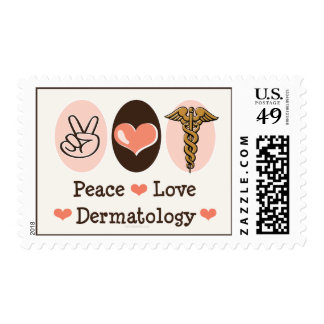 Peace Love Dermatology Stamps
