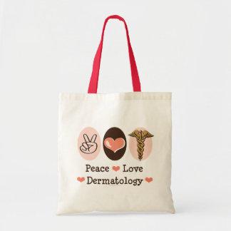 Peace Love Dermatology Tote Bag