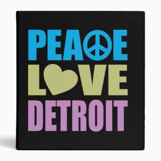 Peace Love Detroit Binder