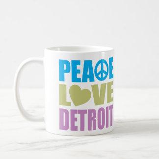 Peace Love Detroit Coffee Mug
