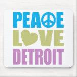 Peace Love Detroit Mouse Pad