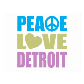 Peace Love Detroit Postcard