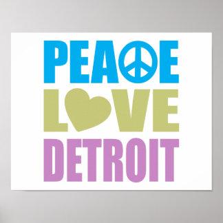 Peace Love Detroit Poster