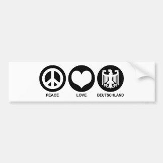 Peace Love Deutschland Bumper Sticker
