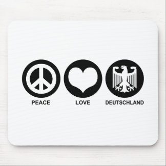 Peace Love Deutschland Mouse Pad