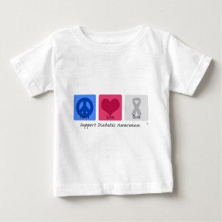 Peace Love Diabetes Baby T-Shirt