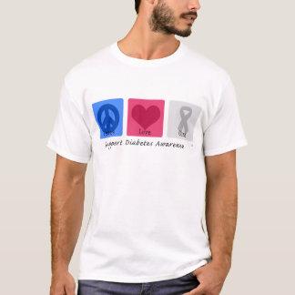Peace Love Diabetes T-Shirt