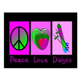 Peace Love Dialysis Postcard