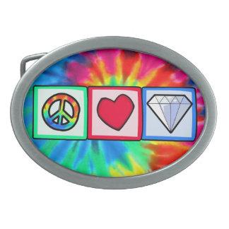 Peace, Love, Diamonds Belt Buckle