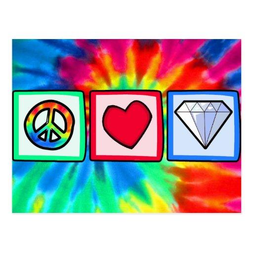 Peace, Love, Diamonds Postcard