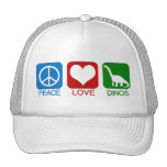PEACE, LOVE, DINOS MESH HAT