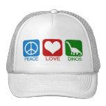PEACE, LOVE, DINOS TRUCKER HAT
