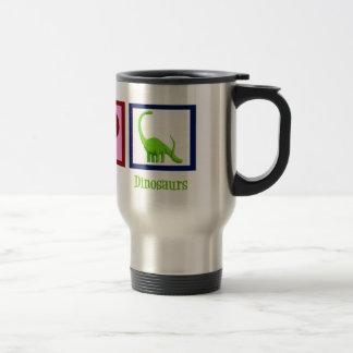Peace Love Dinosaurs Coffee Mugs