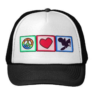 Peace, Love, Dirt Bike Trucker Hat