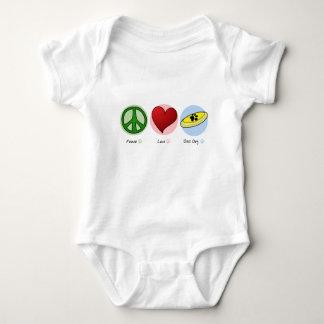 Peace Love Disc Dog Baby Creeper