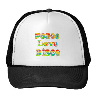 Peace Love Disco Mesh Hat