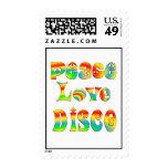Peace Love Disco Stamp