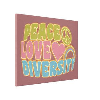 PEACE LOVE DIVERSITY canvas print