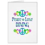 Peace Love Diving Card