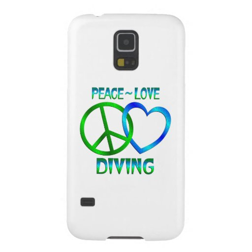 Peace Love DIVING Cases For Galaxy S5