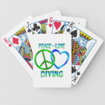 Peace Love DIVING Deck Of Cards