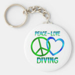 Peace Love DIVING Key Chains