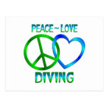 Peace Love DIVING Post Card