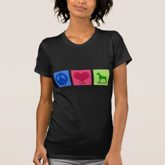 Peace Love Doberman Pinscher T Shirt