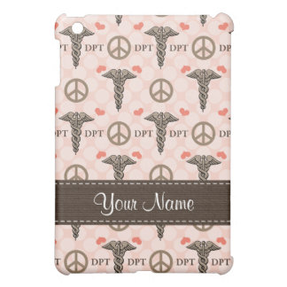 Peace Love Doctor of Physical Therapy Caduceus Doc Cover For The iPad Mini