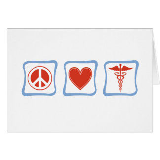 Peace Love Doctor Squares Card