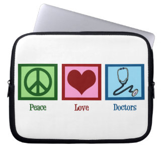 Peace Love Doctors Computer Sleeve
