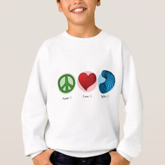Peace Love & Dog Agility KIds Sweatshirt