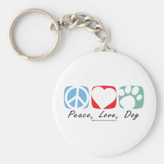 Peace Love Dog Keychain
