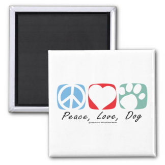 Peace Love Dog Refrigerator Magnet