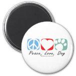 Peace Love Dog Magnet