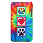 Peace, Love, Dog; Pawprint Barely There iPod Covers