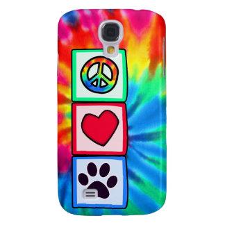 Peace, Love, Dog; Pawprint Samsung Galaxy S4 Cover