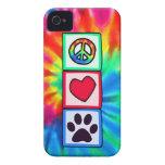 Peace, Love, Dog; Pawprint Case-Mate iPhone 4 Case