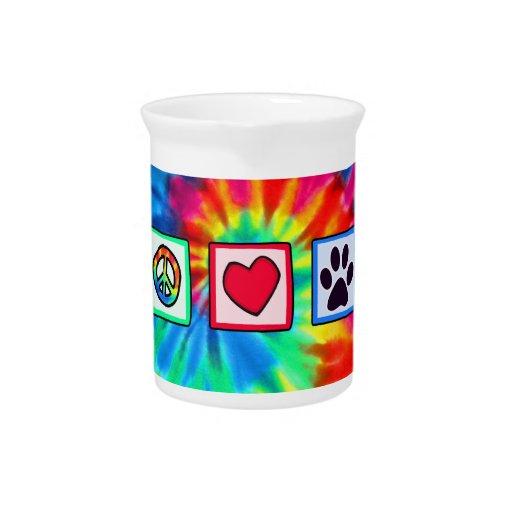 Peace, Love, Dog; Pawprint Drink Pitcher
