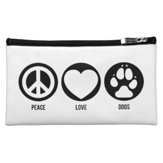 Peace Love Dogs Cosmetic Bags