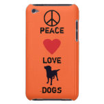 Peace Love Dogs Barely There iPod Cases