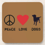 Peace Love Dogs Beverage Coaster