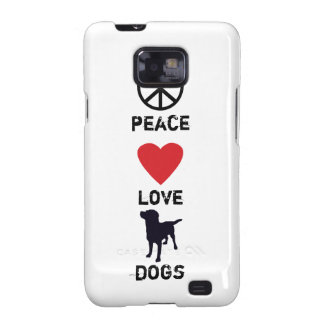 Peace Love Dogs Samsung Galaxy S Covers