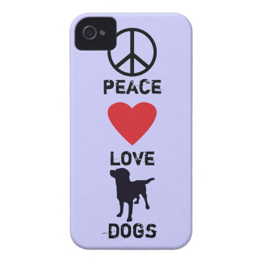 Peace Love Dogs Case-Mate iPhone 4 Cases
